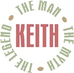 Keith the Man the Myth the Legend T-shirts Gifts