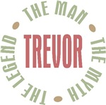 Tevor the Man the Myth the Legend T-shirts Gifts