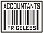 Accountants Priceless Bar Code T-shirts and Gifts