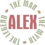 Alex the man the myth the legend T-shirts Gifts