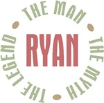 Ryan the man the myth the legend T-shirts Gifts