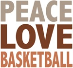Peace Love Basketball Tees and Gifts