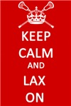 Lacrosse Keep Calm and Lax On