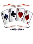 Aces with design