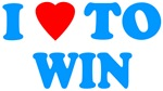 I LOVE TO WIN-BLUE