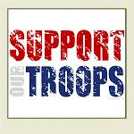 Support Our Troops - Aged