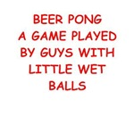 a funny beer pong joke on gifts and t-shirts.