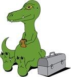 Dinosaur With A Sandwich