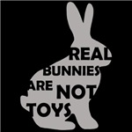 REAL BUNNIES ARE NOT TOYS - Gray