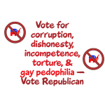 Vote for GOP Pedophilia - Apparel