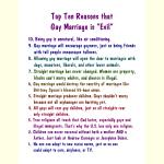 Gay Marriage Top Ten
