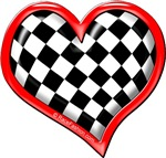 Red Checkers Flag HEART