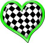 Green Racing Heart