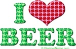 I love Beer (red heart)
