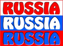 Russian Flag with text Russia