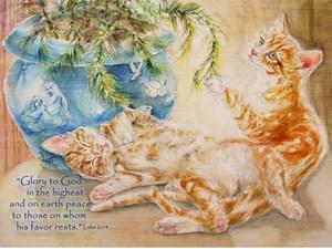 Wonder and Peace Christmas Card