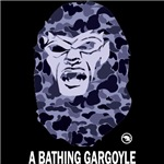A Bathing Gargoyle (Dark)