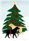 Labrador Dog Christmas & Holiday Card Singles