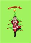 Yoga Tree Pose Santa