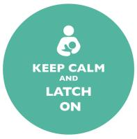Keep Calm and Latch On Teal