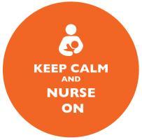 Keep Calm and Nurse On Orange