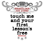 Touch me, your first BJJ lesson's free