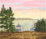 Autumn Sunset In Maine