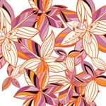 Orange Purple Floral