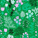 Cute Pink Green Floral Pattern