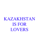 KAZAKHSTAN IS FOR LOVERS ITEMS