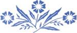 Corning Blue Flower