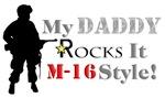 Daddy Rocks It M-16 Style