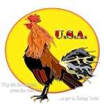 The Rising Cock USA T-Shirts For Women