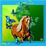Palomino & Butterflies