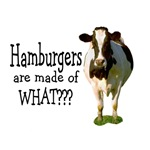 Hamburgers are made of what?