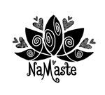 Namaste B&W Lotus