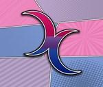 Halftone Bisexual Crescent Moons