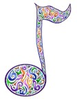 colored Music Note