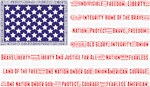 USA Flag - Word Art