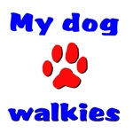 My dog loves walkies