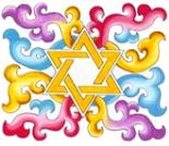 Rainbow Scroll-Star Of David