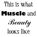 Muscle and Beauty (Black Text)