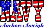 Navy Flag Anchors Aweigh