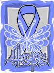 Hope Butterfly Stomach Cancer Ribbon Shirts