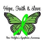 Hope, Faith & Love Non-Hodgkin's Awareness T-Shirt
