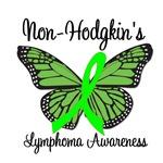 Non-Hodgkin's Lymphoma Awareness Butterfly T-Shirt