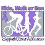 Ride Walk Run Hodgkin's Lymphoma Shirts