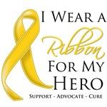 I Wear a Ribbon For My Hero Neuroblastoma Shirts