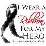 I Wear a Ribbon For My Hero Melanoma Shirts