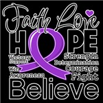 Faith Hope Pancreatic Cancer Shirts